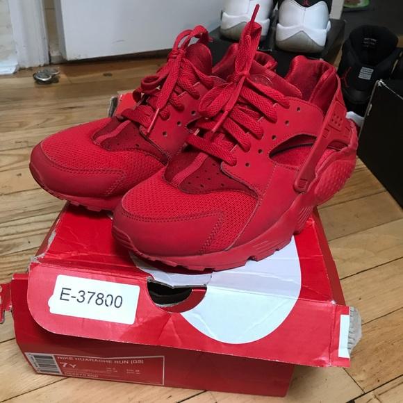 Nike Shoes | Nike Huarache Red Youth